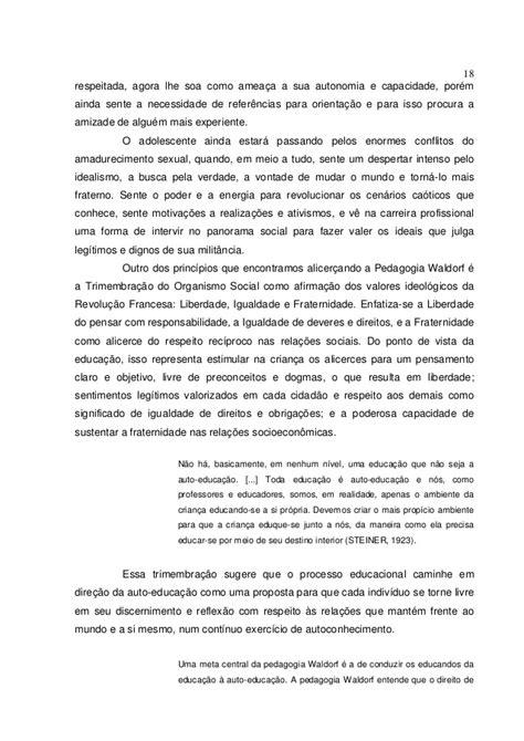 Tcc PEDAGOGIA WALDORF: UMA VISÃO HOLÍSTICA COMO ABORDAGEM