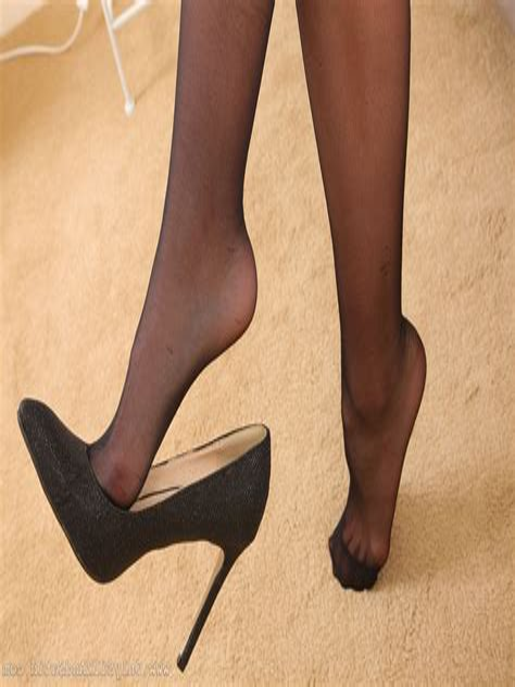 Feet in Hosiery