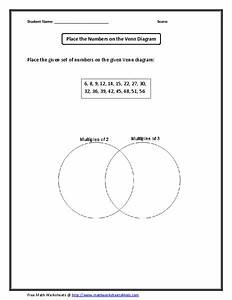 Place The Numbers On The Venn Diagram Graphic Organizer