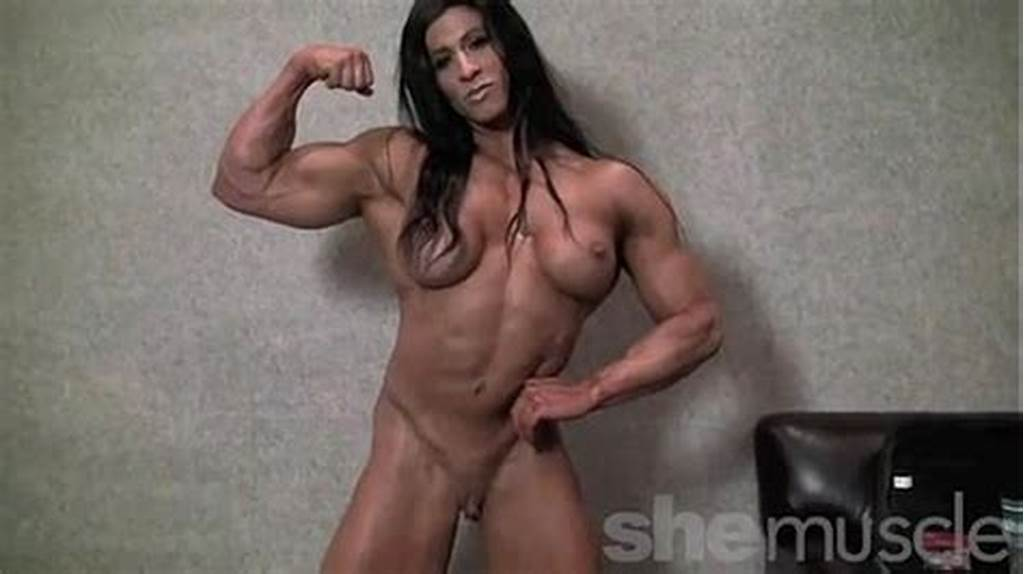 #Angela #Salvagno #Naked #Female #Bodybuilder #Strip