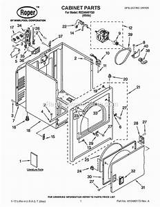 Roper Red4640yq0 Parts List And Diagram