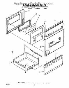 Parts For Whirlpool Rf315pxxn1  Door And Drawer Parts