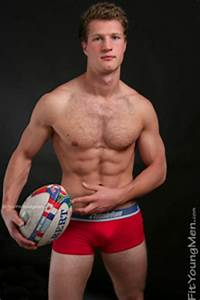 Fit Young Men  Model Sebastian Edwards - Rugby Player