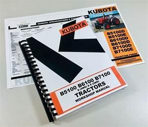 Kubota Bx1830 Bx2230 1830 2230 Tractor Service  U0026 Repair