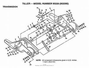 Ayp  Electrolux 952205  1995  Parts Diagram For Tiller
