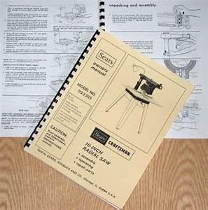 Craftsman 113 23112 Radial Arm Saw Operator Instructions