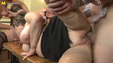 Old Puss Banged Doggystyle By His Large Dildo