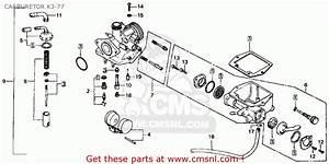 Honda Ct70 Trail 70 1976 Usa Carburetor K3-77
