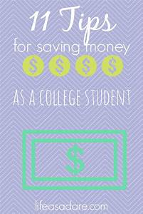 11 Money Saving Tips For College Students