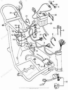 Honda Motorcycle 1976 Oem Parts Diagram For Wire Harness
