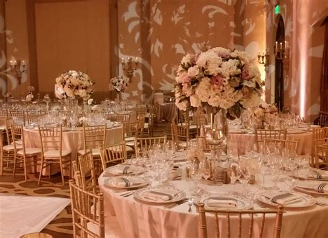 Pink & Gold Table Setting with Beautiful High Top Floral