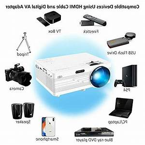 Mini Projector 1080p Merisny 2400 Lumens Video Projector 176 U0026quot