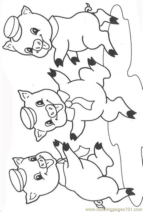 The Three Little Pigs 008 (3) Coloring Page Free Others