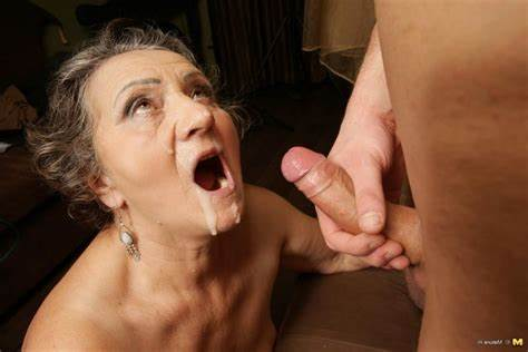 Long Haired Old Got Anal Filled With Jizz