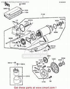 Kawasaki 1984 Zx750-a2 Gpz 750 Starter Motor  Starter Clutch