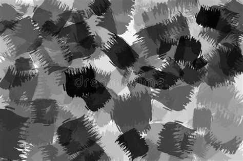 Abstract Black And White Watercolor Background Monochrome