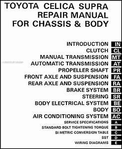1982 Toyota Supra Repair Shop Manual Original Supplement