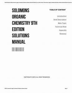 Bestseller  Solomon Organic Chemistry 10th Edition