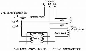 Wiring Diagram 240v Contactor