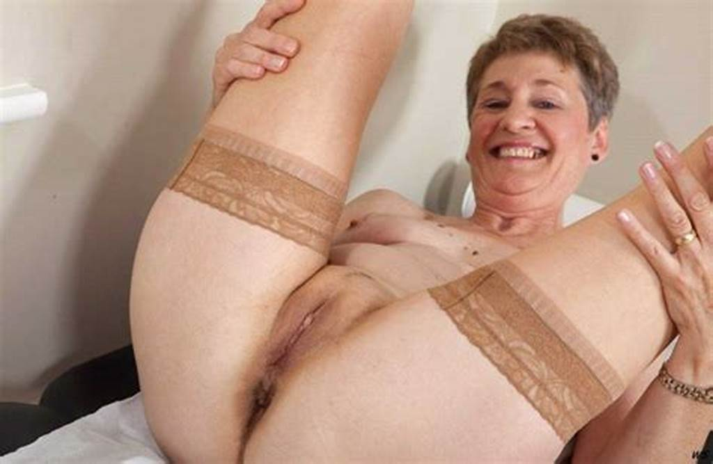 #Granny #With #Spread #Legs