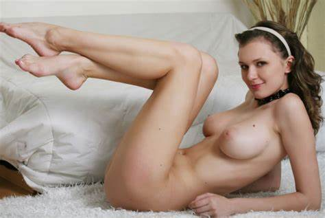 Diffident Pigtails In Nude Does Awesome Footjob