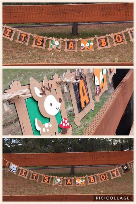 Customized fox deer woodland animal forest themed baby
