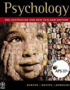 Psychology  3rd Australian And New Zealand Edition