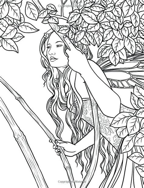Fairy In Leaves Coloring Pages See the category to find