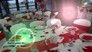 Deco Mariage Rouge Et Blanc Pas Cher : abm d coration th me mariage rouge et blanc youtube ~ Dallasstarsshop.com Idées de Décoration