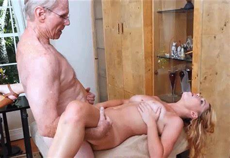 Sporty Grandpa Gets Schoolgirl Lady