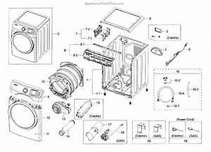 Parts For Samsung Dv42h5200ep  A3-0000      Main Assy Parts