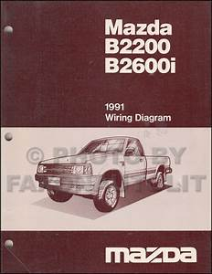 1991 Mazda B2600i B2200 Pickup Truck Wiring Diagram Manual