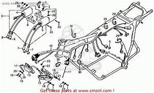 Honda Cb750f 750 Super Sport 1976 Usa Wire Harness