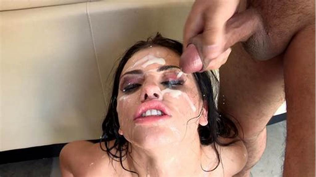 #Adriana #Chechik #Gets #Multiple #Cumshots #On #Her #Face