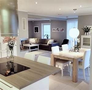 decouvrir la beaute de la petite cuisine ouverte With marvelous photo peinture salon 2 couleurs 1 decorer les murs de ma cuisine grise et rouge