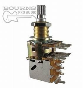 Bourns Dual Mini Guitar Potentiometer W   Push Pull Switch