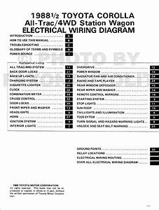 1988 Toyota Corolla All 4wd Station Wagon Wiring
