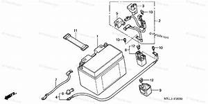 Honda Motorcycle 2004 Oem Parts Diagram For Battery  1
