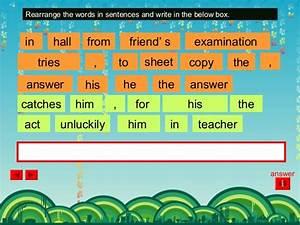 Arrange Sentences Cheat