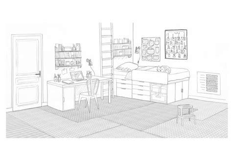 dessin chambre pré ado salle de jeux commune dessins