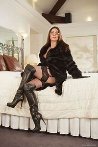 Designer Thigh High Loving The Fur Coat And Leather Boots Along With Those