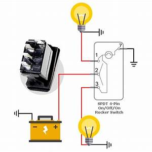 4 Pin 4 Pole Rocker Switch Wiring Diagram