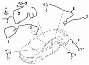 Lincoln Mkz Audio Amplifier Wiring Harness  2015
