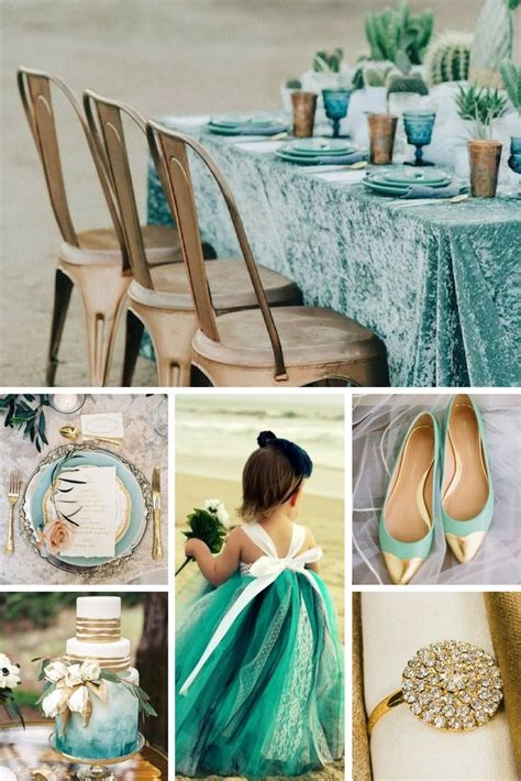 Turquoise and Gold Wedding Inspiration (With images