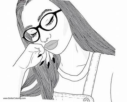 Coloring Pages Teen Printable Girly Teens Adults