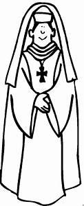 Priester, Mit, Kreuz, Ausmalbild, U0026, Malvorlage, Religion