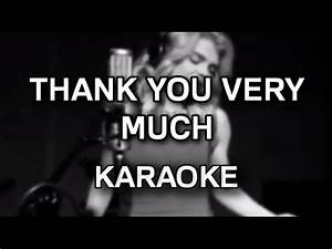 Margaret - Thank you very much [acoustic karaoke ...