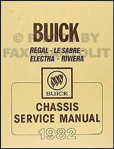 1982 Buick Regal Lesabre Electra Riviera Chassis Repair