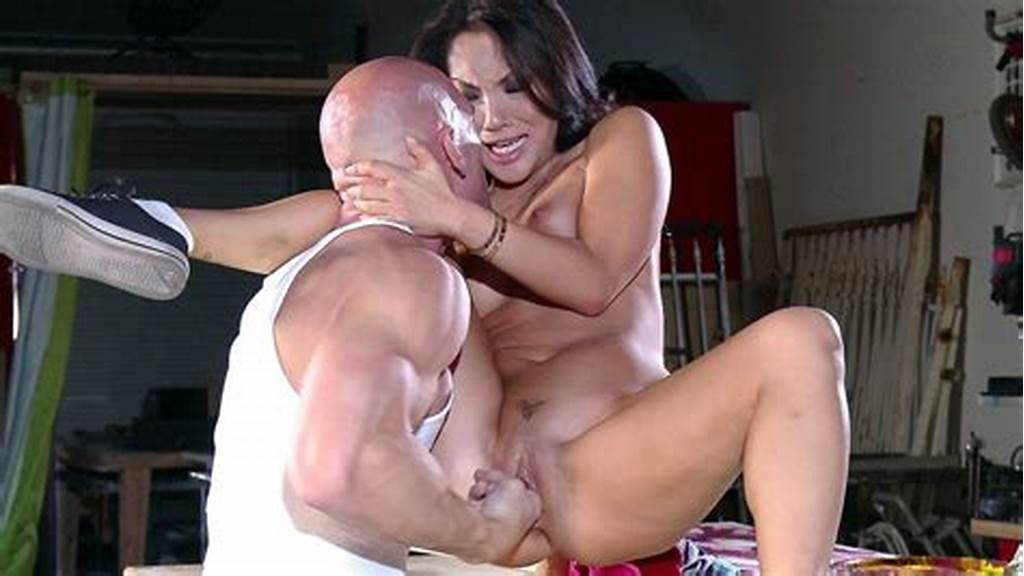 #Asa #Akira #Sitting #On #The #Table #Getting #Her #Both #Holes