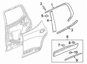 Chevrolet Traverse Door Belt Molding  Upper   Chrome
